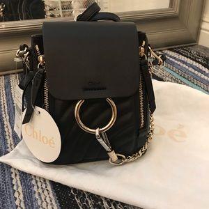 BNWT Chloe Faye Mini Quilted Backpack